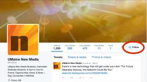 Follow NMDnet on Twitter