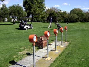 Runway approach lights at Sunnyvale's Municipal Golf Course, March 13, 2010