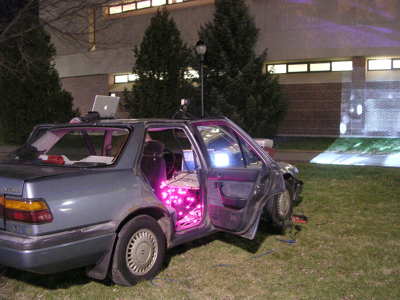 Graffiti Projection car a ill