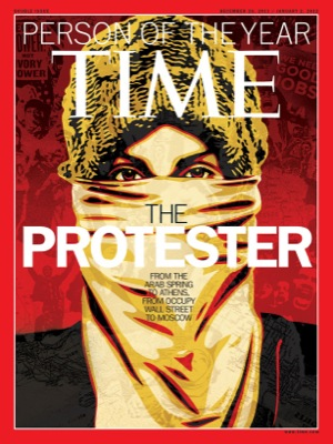 Time Person of Year 2011 Protestor ill