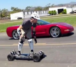 So you're racing a Corvette on your electric skateboard. Which camera will you wear?